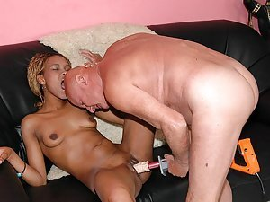 Ekenedilichukwu needs an experienced man who'll initiate her into sex. So Old George arrives with his expert sex toys and teaches this nubian princess how to enjoy herself!
