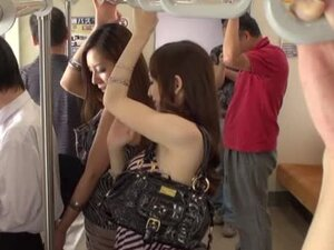 Hot Japanese girls having public sex with group blowjob action