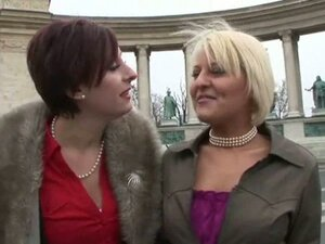 Two mature lesbians can't wait to get home and play with each other