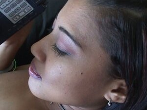 Gorgeous white chick and asian girlfriend ride massive dick