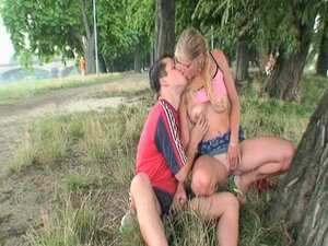 Naughty erotic fun seeking couple fucking hard in public