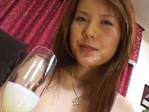 Asian cum drinking twat