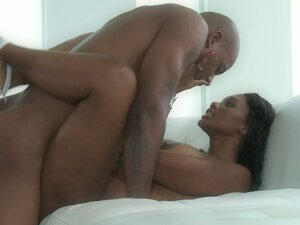 Black dude fucks his gorgeous ebony babe Nyomi Banxxx