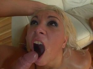 Hot chicks swallow semen in an orgy