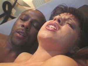 Lascivious Brunette Sheila Rossi Fucked in the Ass by a Big Black Cock