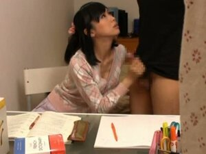 Skirt Wearing Asian Cutie Goes To Town On Tool