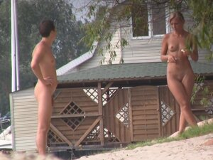 Public beach nudists get voyeured by the kinky hunter