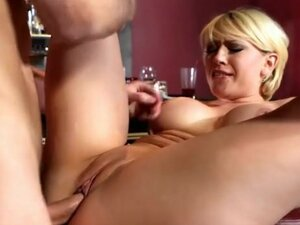 Short hair Kagney Linn Karter fucked in bar