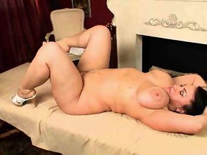 Chubby chick on massage table fucking