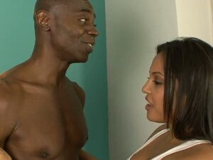 Busty indian chick gets interracial big black cock