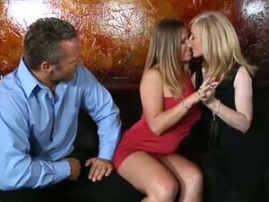 Nina hartley and devon lee put on a lesbian show for their men