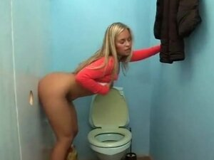 Hot blonde gloryhole slut