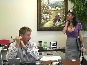 Hot Secretary Alexis Fawx Fucked By a Big Curvy Cock in the Office
