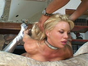 Busty babe stuffed hard into the anal.