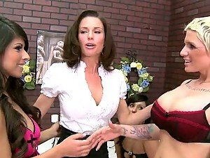 Hot Lesbian Latinas Fucking Doggystyle with Strapon
