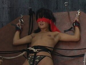 Young gal in naughty BDSM scene
