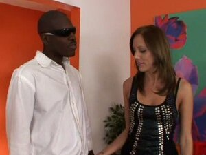 Kacey services a black dick as hubby watches on