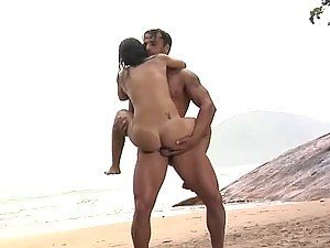 Anal Sex At The Beach With Brazilian Brunette Fabiany Dellaveingh