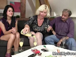 GF drinks and fucks with his parents