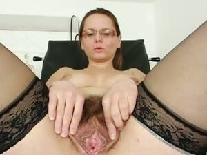 Hairy milf pussy played with by horny doctor