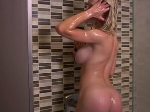 Wet body in the shower is sexy