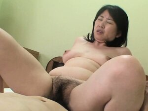 She's simply satisfied with her furry cunt creampie thanks to hubby