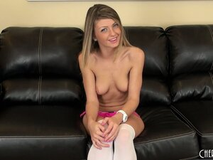 Staci Silverstone tries to play shy but we all know she's a naughty girl