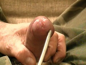 Insert a metal bar in his shaft to make him feel the huge pain