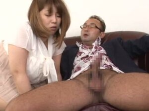 Busty MILF Gets Stripped And Fed A Big Dick On The Couch