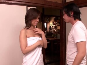 Satsuki Kirioka gets her shaved Japanese pussy fucked remarcably well