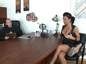 Hot Brunette Ricki White Needs a Job and Will Fuck In The Office For It