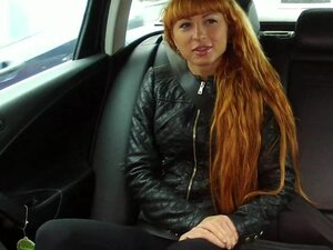 Redhead beauty fuck in the car with driver