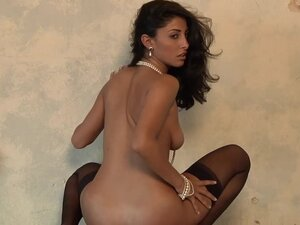 Malina Rojel the brunette in stockings and high heels