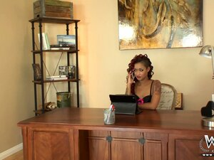 The boss asks her secretary to come in the office for a chat
