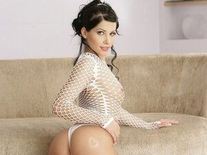 Rebeca the ravishing little hottie has her first threesome and tries double penetration too