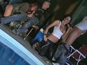 Nine Pornstars Getting Fucked In Amazing Pool Party Orgy
