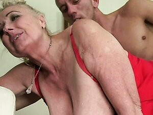 Horny granny Sila getting a creampie after a hardcore fuck