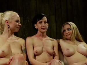 Two mistresses have a domination fun with one poor girl