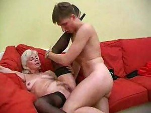 Granny with white hair is ready for cock