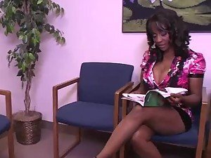 Busty Ebony Sincerre Lemore Fucking Her Doctor in Interracial Video