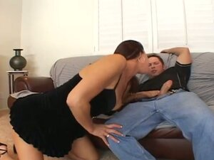 Horny momma Vanessa taking son's friend cock