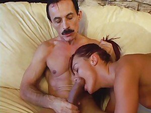 Tantalizing Sandra Romain gets a mouth filled with cum