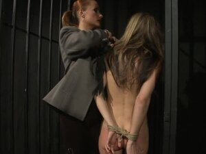 Broken Prisoner is getting tortured hard by the boss