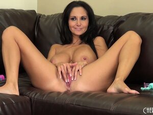 Ava Addams likes playing with her huge hooters and teasing her twat