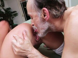 Dirty old man doggyfucked a hot blondie