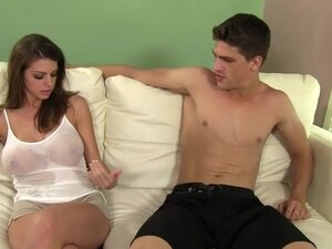 Brooklyn Chase and Bruce Venture in the bedroom