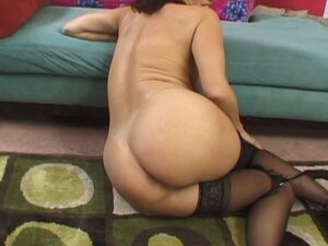 Stocking loving milf with very hairy snatch