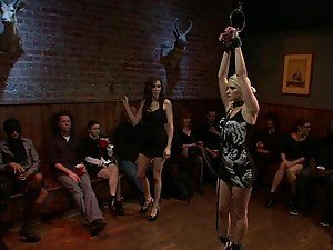 Shy Blonde Gets Humiliated at a BDSM Party