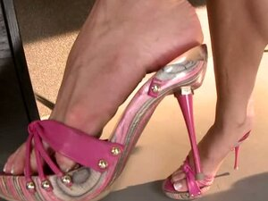 Candy loves showing her legs off as she plays with her snatch