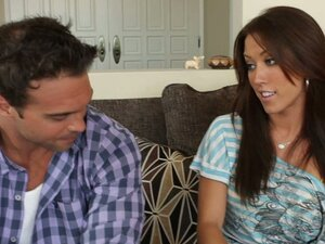 Rocco is meeting his dad's girlfriend Capri for the first time, while his dad is out of town. Capri is a bit frustrated sexually, so Rocco takes matters into his own hands by fucking her hard.